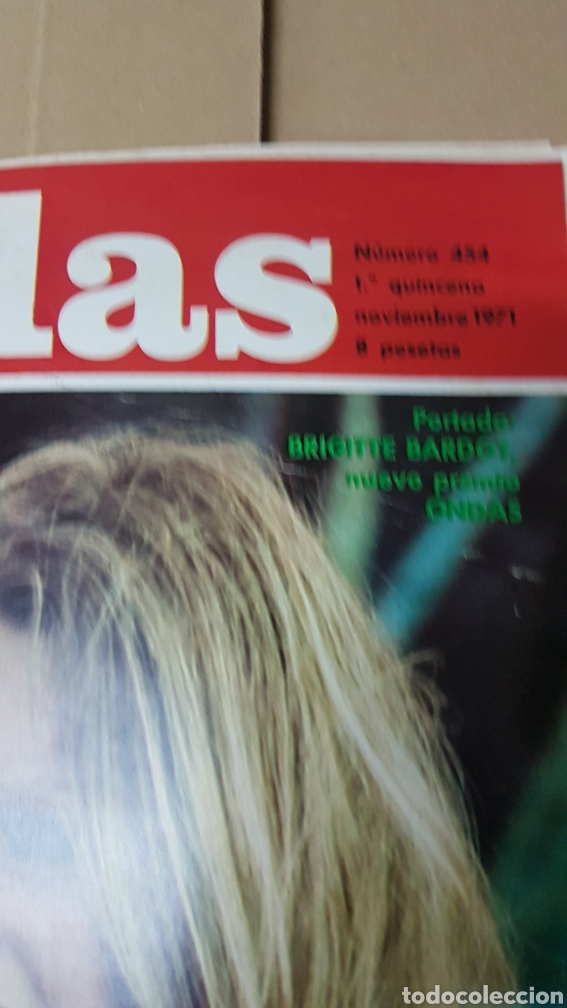 Cine: Revista Ondas Noviembre 1971 Brigitte Bardot. Concha velasco - Foto 2 - 180857886