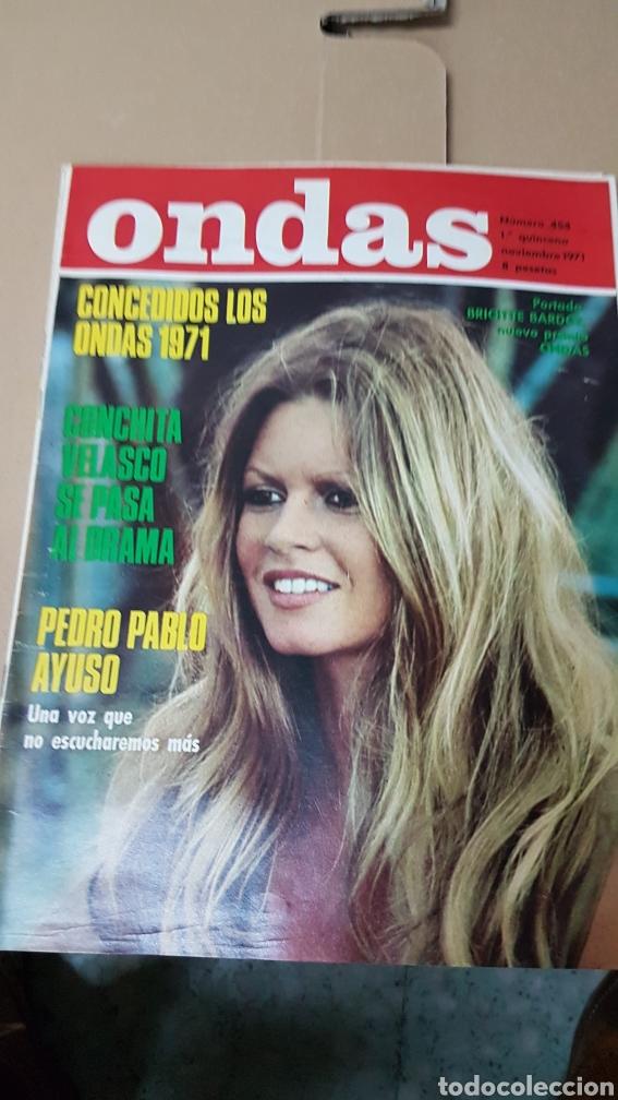 REVISTA ONDAS NOVIEMBRE 1971 BRIGITTE BARDOT. CONCHA VELASCO (Cine - Revistas - Ondas)