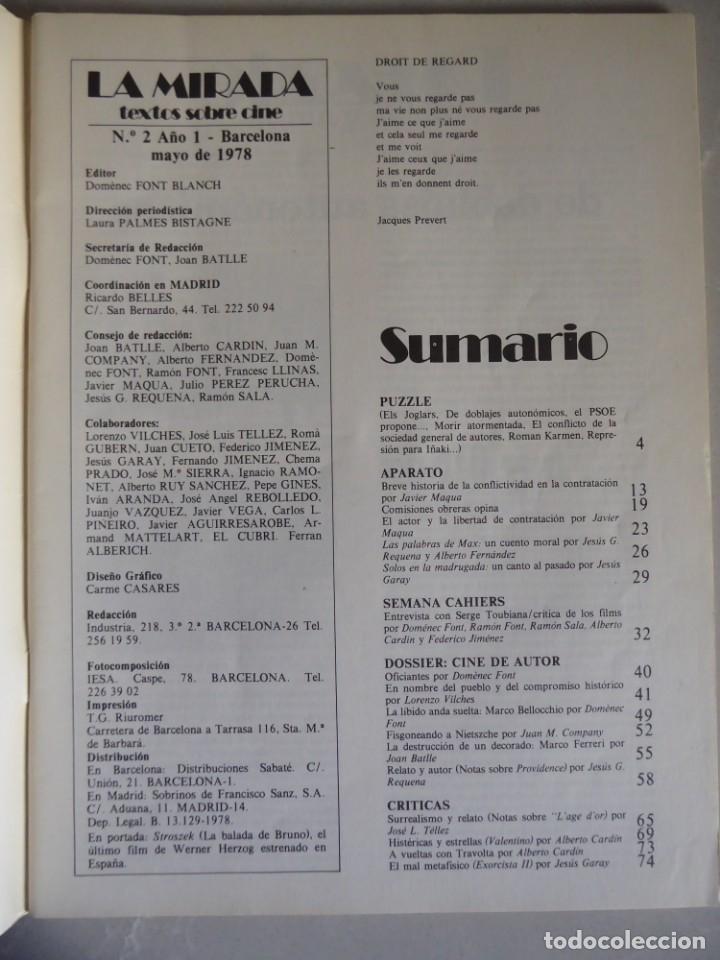 Cine: Revista La mirada, textos sobre cine - Completa 1 a 4 (1978) - Foto 11 - 180867522
