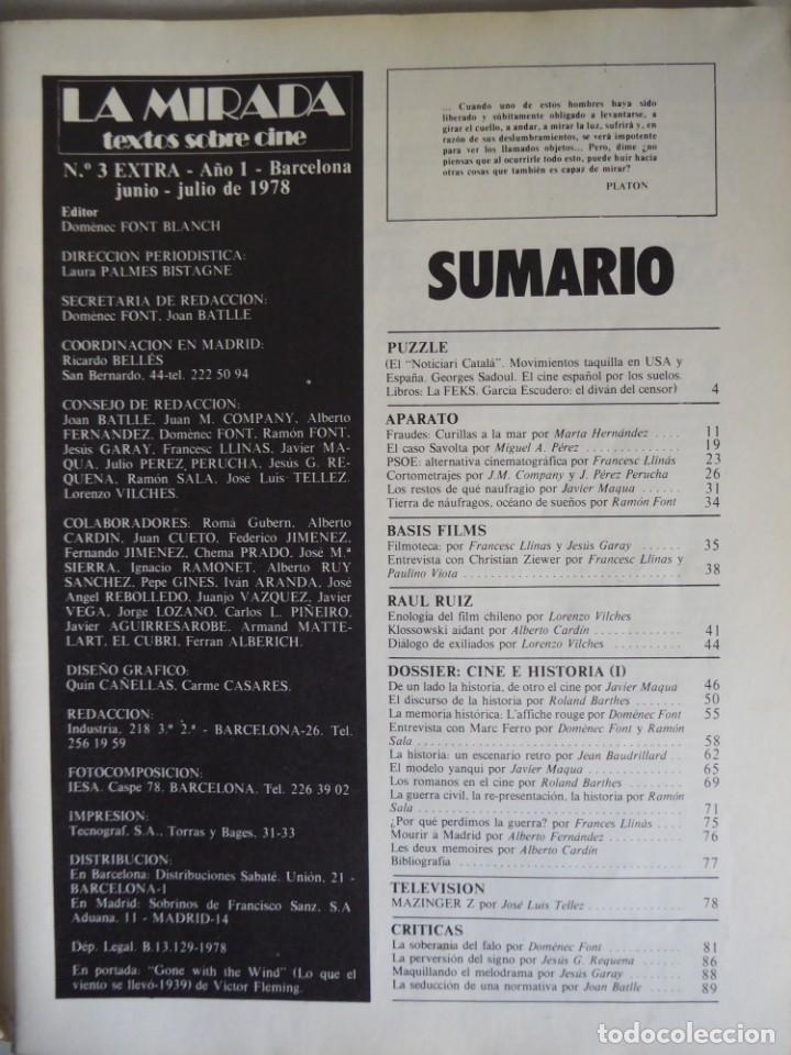 Cine: Revista La mirada, textos sobre cine - Completa 1 a 4 (1978) - Foto 16 - 180867522