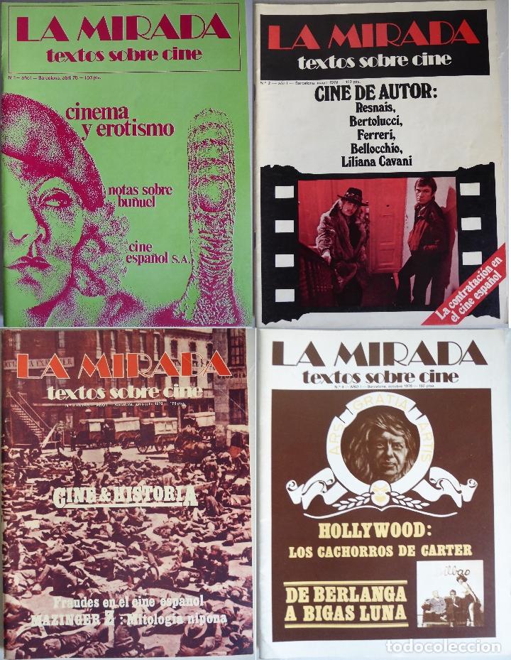 REVISTA 'LA MIRADA, TEXTOS SOBRE CINE' - COMPLETA 1 A 4 (1978) (Cine - Revistas - Otros)