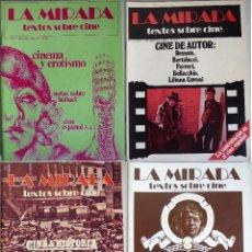 Cine: REVISTA 'LA MIRADA, TEXTOS SOBRE CINE' - COMPLETA 1 A 4 (1978). Lote 180867522
