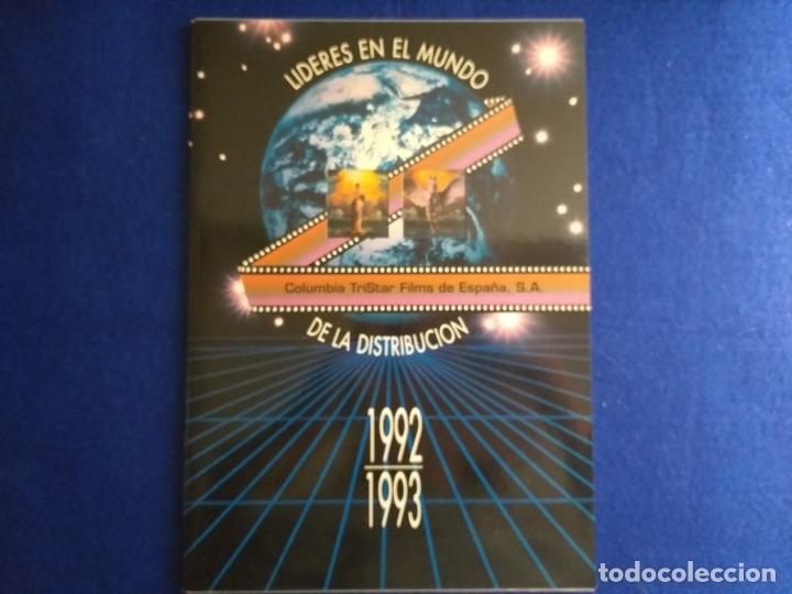 CATALOGO DE PELICULAS DE COLUMBIA TRISTAR. AÑO 1992 1993. LIBRO CATALOGO. (Cine - Revistas - Colección grandes películas)