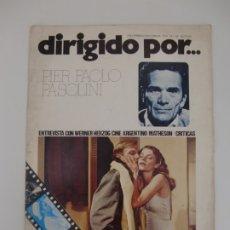 Cinema: DIRIGIDO POR ... Nº 28 / PIER PAOLO PASOLINI. Lote 181216771
