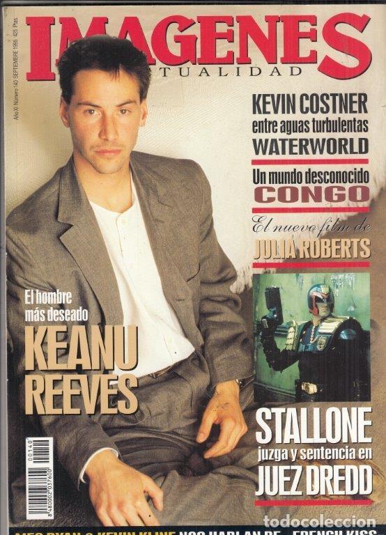 REVISTA IMAGENES Nº 140 AÑO 1995. KEANU REEVES. STALLONE JUEZ DREDD. KEVIN COSTNER WATEREORLD. (Cine - Revistas - Imágenes de la actualidad)