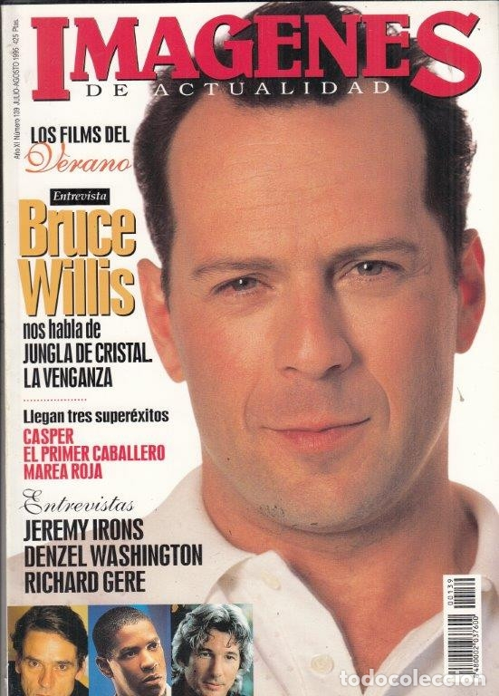 Cine: REVISTA IMAGENES Nº 139 AÑO 1995. BRUCE WILLIS. JEREMY IRONS, DENZEL WASHINGTON. RICHARD GERE. - Foto 1 - 181622475