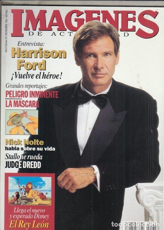REVISTA IMAGENES Nº 131 AÑO 1994. HARRISON FORD. LA MASCARA. EL REY LEON. NICK NOLTE. (Cine - Revistas - Imágenes de la actualidad)