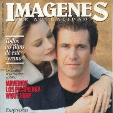 Cine: REVISTA IMAGENES Nº 128 AÑO 1994. KEVIN COSTNER. MEL GIBSON. JODIE FOSTER. MAVERICK. LOS PICAPIEDRA.. Lote 181623353