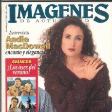 Cine: REVISTA IMAGENES Nº 127 AÑO 1994. ANDIE MACDOWELL. JOHNNY DEPP. ISABELLA ROSSELLINI. MICHAEL KEATON.. Lote 181623443