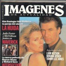Cine: REVISTA IMAGENES Nº 125 AÑO 1994. KIM BASINGER Y ALEC BALDWIN LA HUIDA. TOSO SOBRE LOS OSCAR 1993.. Lote 181623683