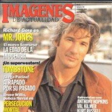 Cine: REVISTA IMAGENES Nº 123 AÑO 1994. TICHARD GERE. ANTHONY HO9PKINS. VAL KILMER KURT RUSSEL E. HOMPSON.. Lote 202594633