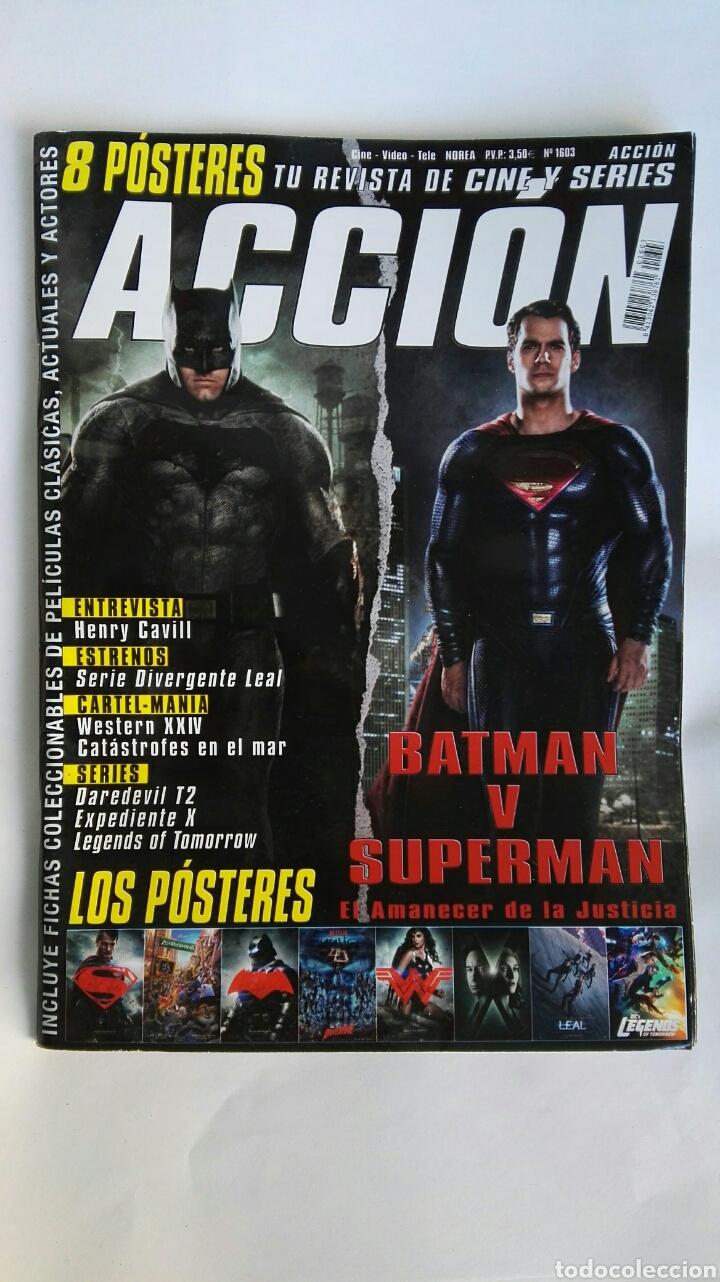 REVISTA ACCIÓN BATMAN SUPERMAN N° 1603 SIN PÓSTERS (Cine - Revistas - Acción)