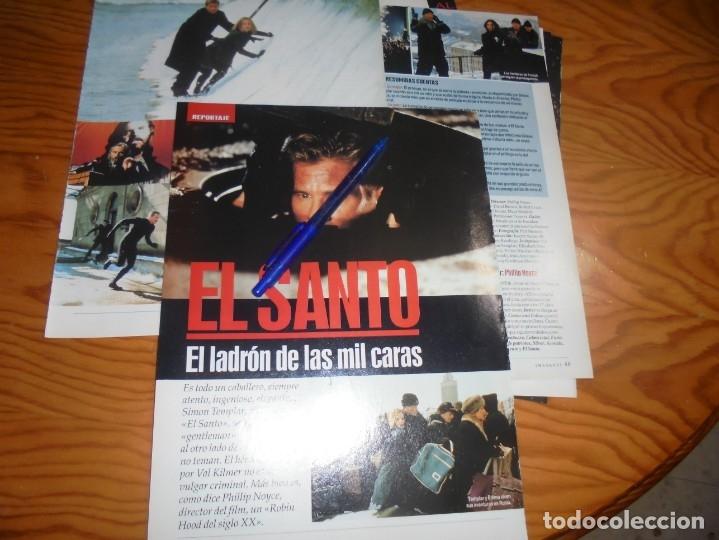 RECORTE : REPORTAJE DE LA PELICULA : EL SANTO, VAL KILMER . IMAGENES, ABRIL 1977 (Cine - Revistas - Imágenes de la actualidad)