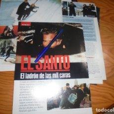 Cine: RECORTE : REPORTAJE DE LA PELICULA : EL SANTO, VAL KILMER . IMAGENES, ABRIL 1977. Lote 181892216