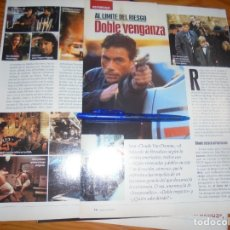 Cine: RECORTE : REPORTAJE DE LA PELICULA : DOBLE VENGANZA. JEAN-CLAUDE VAN DAMME . IMAGENES, ABRIL 1977. Lote 181892423