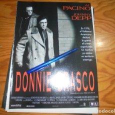 Cine: RECORTE : PUBLICIDAD PELICULA : DONNIE BRASCO. AL PACINO, JOHNNY DEPP . IMAGENES, ABRIL 1977. Lote 181892700