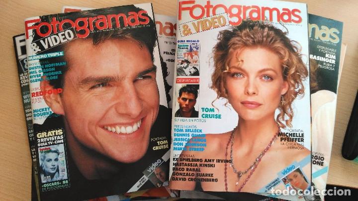 LOTE DE 11 NÚMEROS DE FOTOGRAMAS. AÑO 1989 COMPLETO. (Cine - Revistas - Fotogramas)