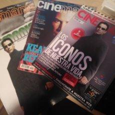 Cine: 4 REVISTAS CINEMANIA KEANU REEVES Y MUCHO MAS JUNIO 1999 MAYO 1996 MAYO 2003 NOV 2010 ESPECIAL PORTA. Lote 182124426