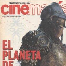 Cinema: SUPLEMENTO CINEMANIA Nº 72 AÑO 2001. EL PLANETA DE LOS SIMIOS.. Lote 182200733