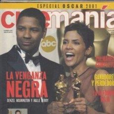 Cine: SUPLEMENTO CINEMANIA Nº 79 AÑO 2002. DENZEL WASHINGTON Y HALLE BERRY. OSCAR LOS MEJORE MOMENTOS.. Lote 182201428