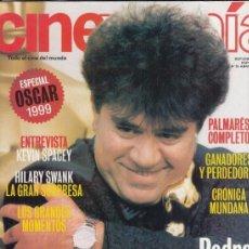Cine: SUPLEMENTO CINEMANIA Nº 55 AÑO 2000. ESPECIAL OSCAR 1999. PEDRO ALMODOVAR.. Lote 182201550