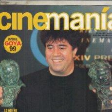 Cine: SUPLEMENTO CINEMANIA Nº 53 AÑO 2000. ESPECIAL GOYA 1999. PEDRO ALMODOVAR. TODO SOBRE MI MADRE.. Lote 182202043