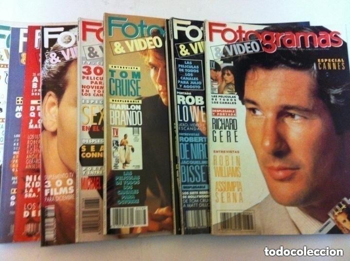FOTOGRAMAS- LOTE DE 10 -AÑOS 90/91 (Cine - Revistas - Fotogramas)