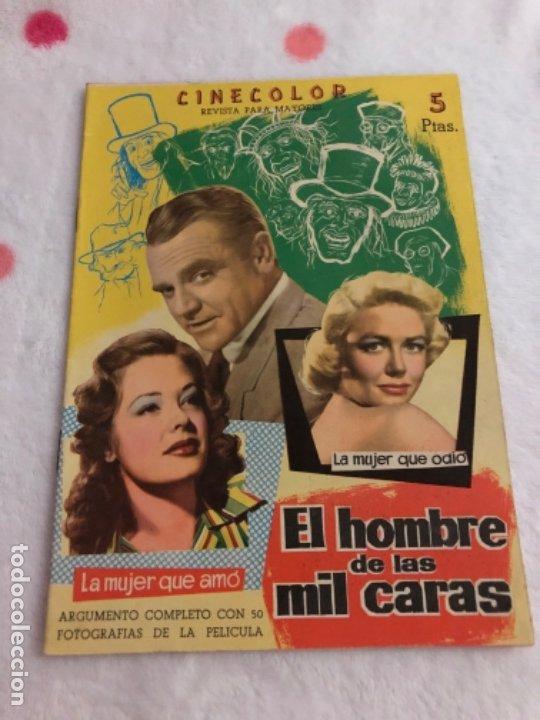 REVISTA PARA MAYORES CINECOLOR EL HOMBRE DE LAS MIL CARAS (Cine - Revistas - Cinecolor)