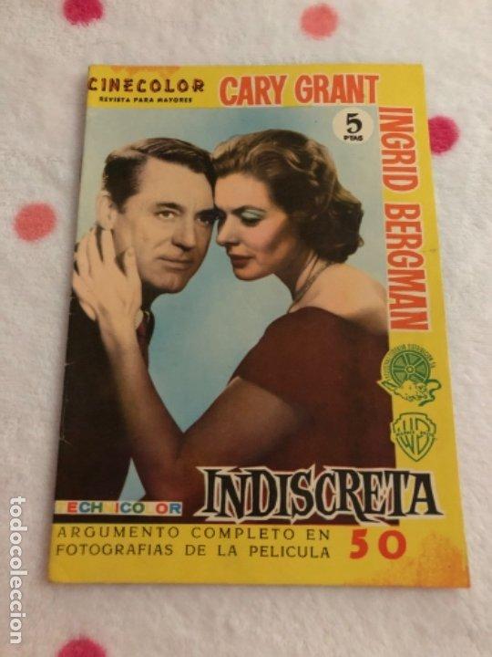 REVISTA PARA MAYORES CINECOLOR CARY GRANT INGRID BERGMAN INDISCRETA (Cine - Revistas - Cinecolor)