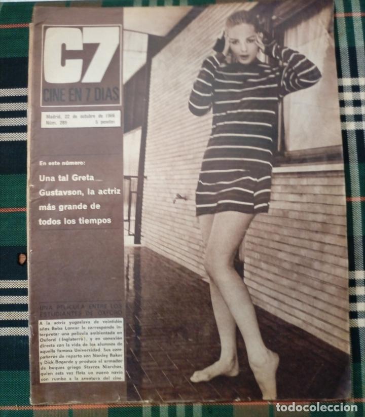 REVISTA C7 -CINE EN 7 DIAS . 22 OCTUBRE 1966 NUM.289 - GRETA GUSTAVSON . GRETA GARBO (Cine - Revistas - Cine en 7 dias)