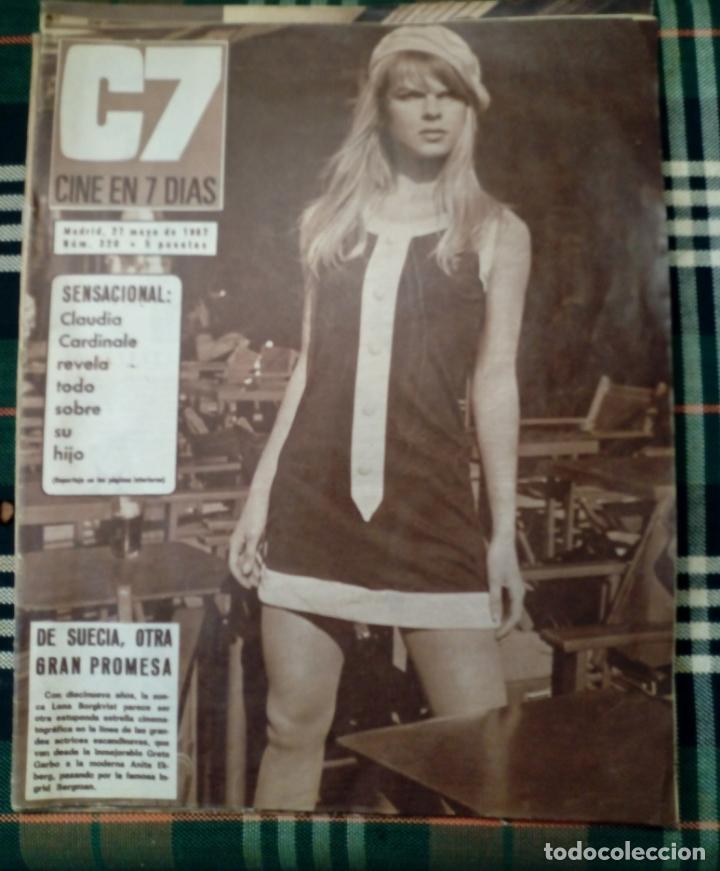 REVISTA C7 - CINE EN 7 DIAS . 27 MAYO 1967 , NUM.320 - CLAUDIA CARDINALE (Cine - Revistas - Cine en 7 dias)