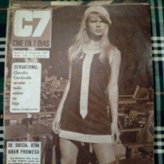Cine: REVISTA C7 - CINE EN 7 DIAS . 27 MAYO 1967 , NUM.320 - CLAUDIA CARDINALE. Lote 182356027