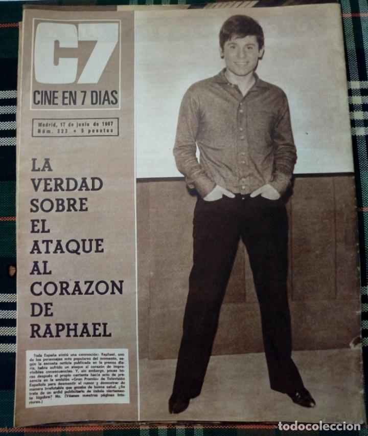 Cine: REVISTA C7 - cine en 7 dias . 17 junio 1967 - num.323 - lana wood - Foto 2 - 182356213