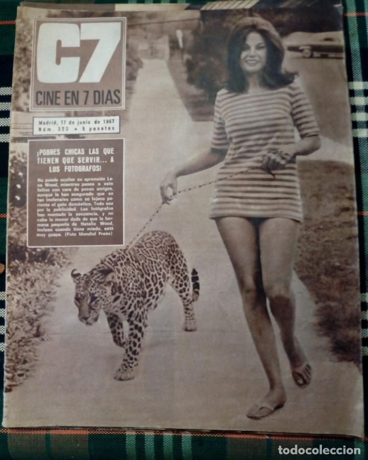 REVISTA C7 - CINE EN 7 DIAS . 17 JUNIO 1967 - NUM.323 - LANA WOOD (Cine - Revistas - Cine en 7 dias)