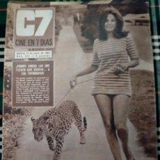 Cine: REVISTA C7 - CINE EN 7 DIAS . 17 JUNIO 1967 - NUM.323 - LANA WOOD. Lote 182356213