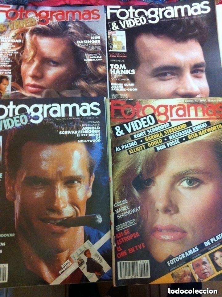 FOTOGRAMAS- LOTE DE 10 -AÑOS 84/90 (Cine - Revistas - Fotogramas)