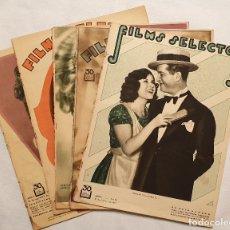 Cine: LOTE 5 REVISTAS FILMS SELECTOS. NºS 19, 21, 22, 23 Y 50. Lote 182418660