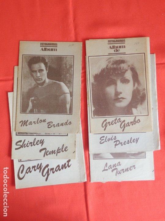 FOTOGRAMAS LOTE 6 ALBUM MARLON BRANDO SHIRLEY TEMPLE CARY GRANT GRETA GARBO ELVIS PRESLEY LANATARNER (Cine - Revistas - Fotogramas)