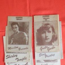 Cine: FOTOGRAMAS LOTE 6 ALBUM MARLON BRANDO SHIRLEY TEMPLE CARY GRANT GRETA GARBO ELVIS PRESLEY LANATARNER. Lote 182521050
