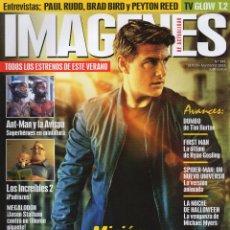 Cine: IMAGENES DE ACTUALIDAD N. 392 JULIO/AGOSTO 2018 - EN PORTADA: MISION IMPOSIBLE FALLOUT (NUEVA). Lote 217779387