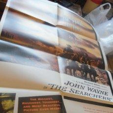 Cine: POSTER CENTAUROS DEL DESIERTO / JOHN WAYNE - FORD - 85 X 55 CMS - SIN USAR / ENVÍO GRATIS - . Lote 182694517