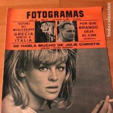 Cinema: FOTOGRAMAS OCTUBRE 1965.MARLON BRANDO.JULIE CHRISTIE.DOROTHY MALONE. Lote 182810488