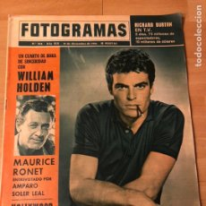 Cine: FOTOGRAMAS DICIEMBRE 1964.ANDRE LAWRENCE.RAY CHARLES.MAURICE RONET.AMPARO SOLER LEAL WILLIAM HOLDEN. Lote 182812660