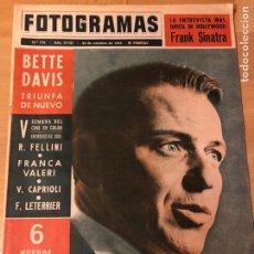 Cine: FOTOGRAMAS OCTUBRE 1963.FRANK SINATRA.DESAYUNO CON DIAMANTES AUDREY HEPBURN BETTE DAVIS. Lote 182812738