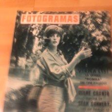 Cine: FOTOGRAMAS JULIO 1965.VIRNA LISI.TERENCE STAMP.SEAN CONNERY.JOHN WAYNE.CANTANDO BAJO LA LLUVIA.SURFS. Lote 182813881