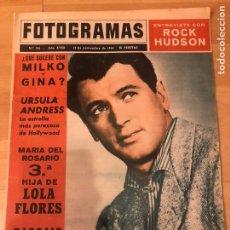 Cine: FOTOGRAMAS NOVIEMBRE 1963.ROCK HUDSON.LOLA FLORES.URSULA ANDRESS.STEFANIA SANDRELLI. Lote 182813981