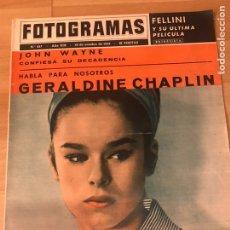 Cine: FOTOGRAMAS OCTUBRE 1964.GERALDINE CHAPLIN.JOHN WAYNE.FEDERICO FELLINI. Lote 182813988