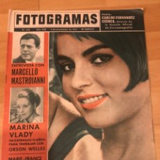 Cine: FOTOGRAMAS NOVIEMBRE 1964.MARIE FRANCE PISIER.MARCELLO MASTROIANNI MARINA VLADY.BECKET. Lote 182835065