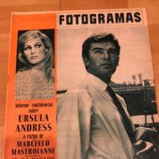 Cine: FOTOGRAMAS AGOSTO 1965.DANIEL MARTIN.URSULA ANDRESS MARCELLO MASTROIANNI.CARY GRANT.LOS BEATLES. Lote 182839045