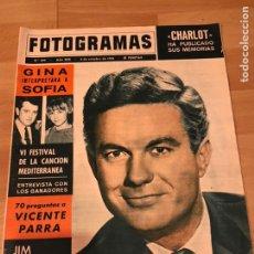 Cine: FOTOGRAMAS OCTUBRE 1964.CLIFF ROBERTSON.DESDE RUSIA CON AMOR SEAN CONNERY JAMES BOND.VICENTE PARRA.. Lote 182840473